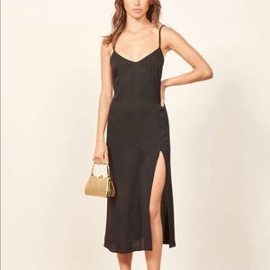 Reformation black Crimini dress. Never worn.